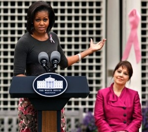 First Lady speaking about Venus's work