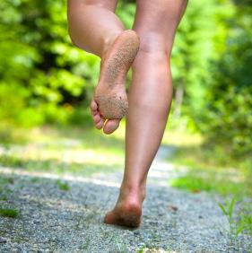 Correr descalzo puede tener consecuencias