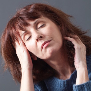 concept of wellbeing and napping for mature woman