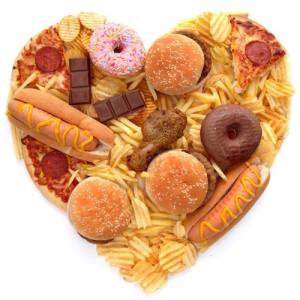 Heart shape junk food