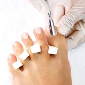 Professional pedicure treatment.
