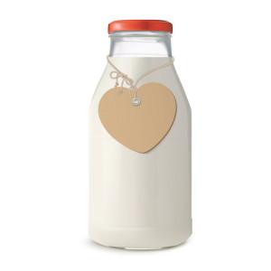 Bottles of milk isolated on white background. Vector illustration