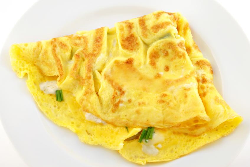 Omelet de queso brie y hierbas finas